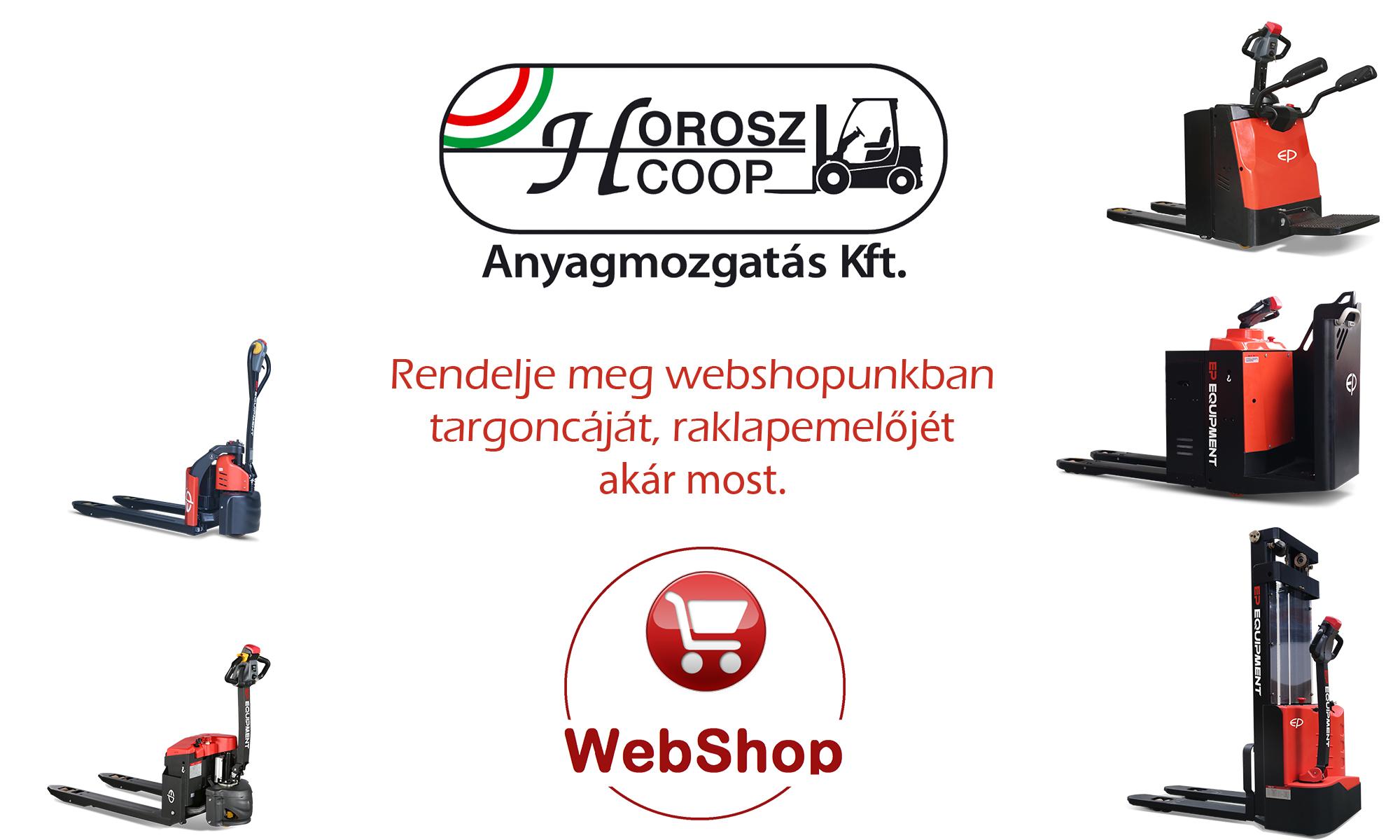 Raklapemelő webshop